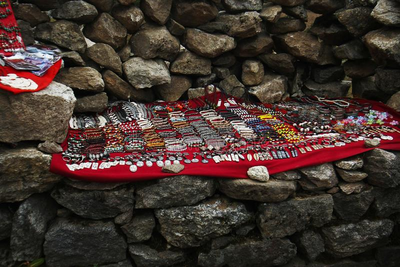 Accessori di modo tibetani, regione Nepal di Everest fotografia stock libera da diritti