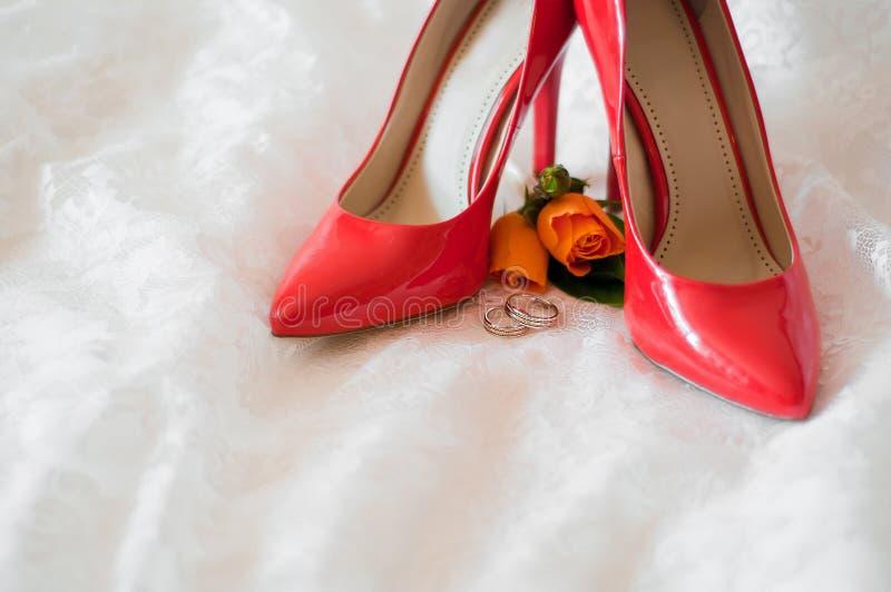 Accessori di nozze fotografie stock libere da diritti