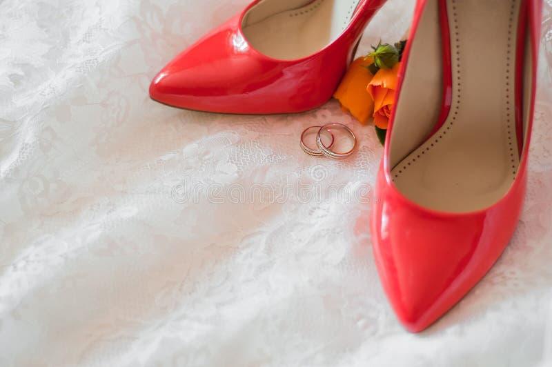 Accessori di nozze immagine stock