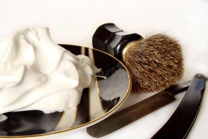 Accessori di rasatura del `s dell'uomo fotografie stock libere da diritti
