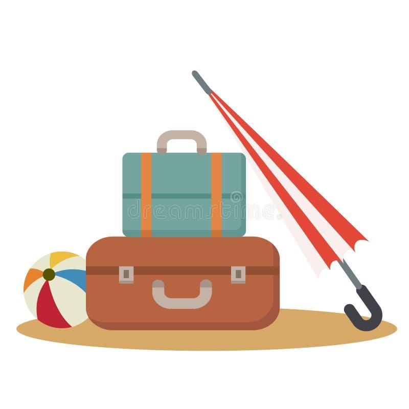 Accessori di viaggio illustrazione vettoriale