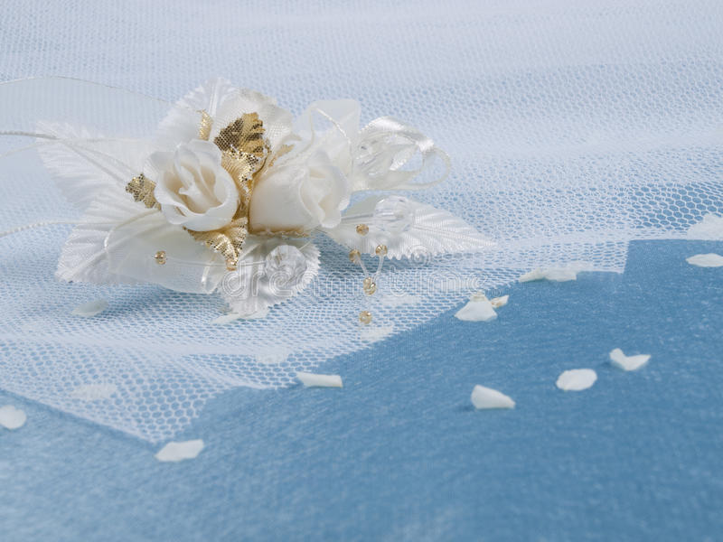 accessorie buttonhole płatków śluby zdjęcia stock