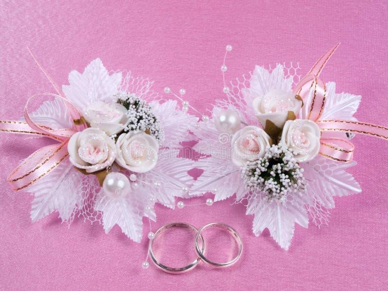 Accessorie di cerimonie nuziali un occhiello immagine stock libera da diritti