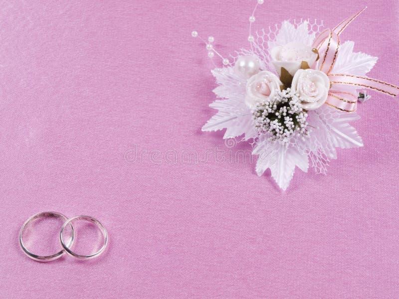 Accessorie di cerimonie nuziali un occhiello fotografie stock