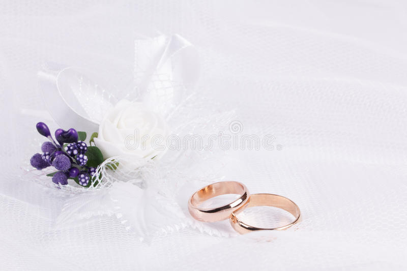 Accessorie di nozze un occhiello fotografia stock