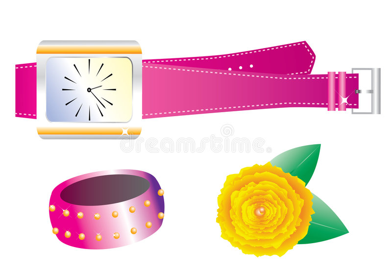 Accessories royalty free illustration