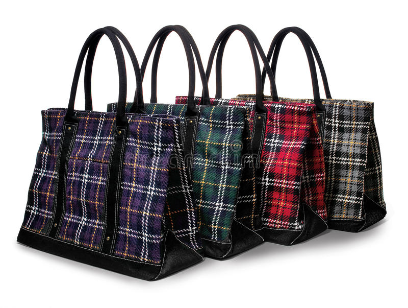 Download Accessories, Bags, Plaid Bags In Assorted Colors Royalty Free Stock Photography - Image: 10787757