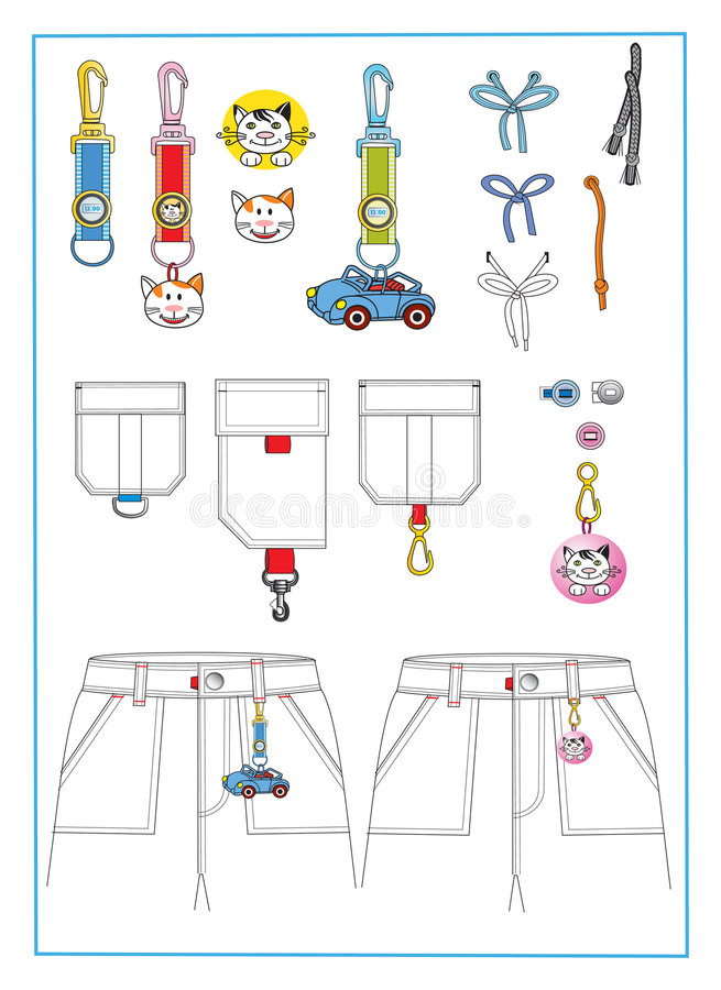 Download Accessories for clothes stock vector. Image of image, children - 9359525