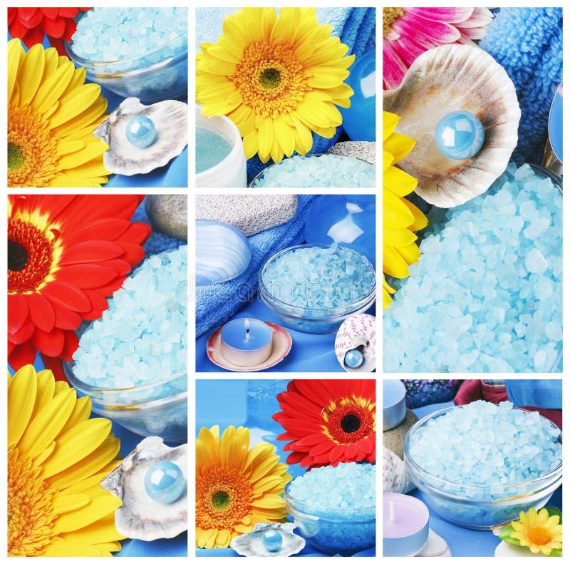 accessories collage spa стоковое изображение rf