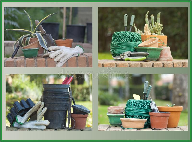 Accessories for gardening and the vegetable garden royalty free stock image