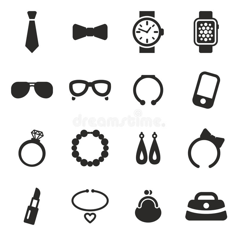 Accessories Icons royalty free illustration