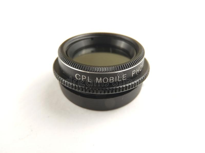 Close Up Accessories for Mobile Phone Photography, CPL, Circular Polarizer. Accessories for Mobile Phone Photography, CPL, Circular Polarizer stock photos