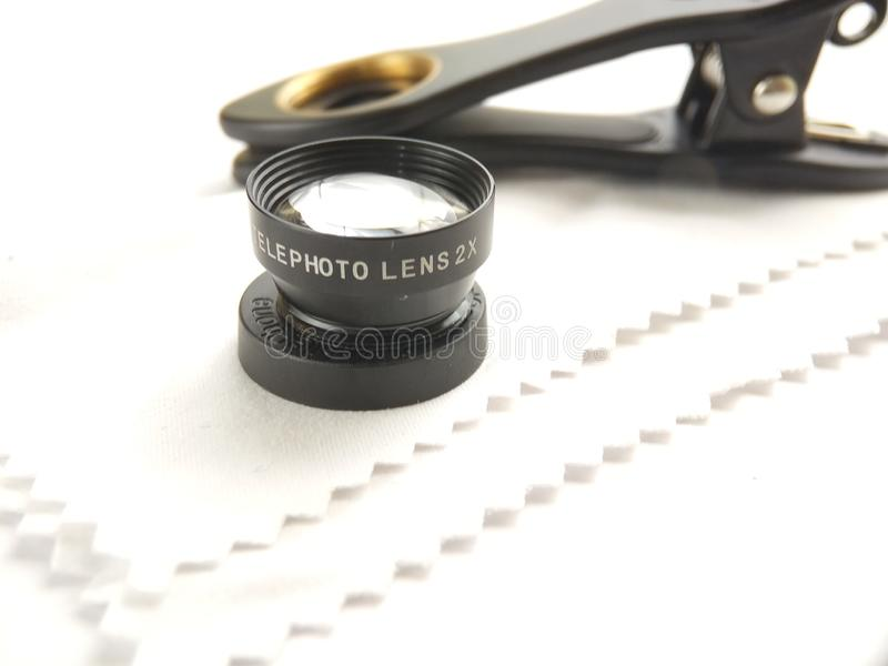 Close Up Accessories for Mobile Phone Photography, Tele Lens stock image