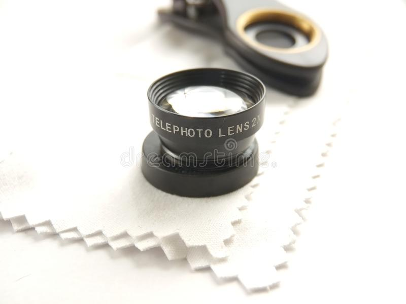 Close Up Accessories for Mobile Phone Photography, Tele Lens royalty free stock image
