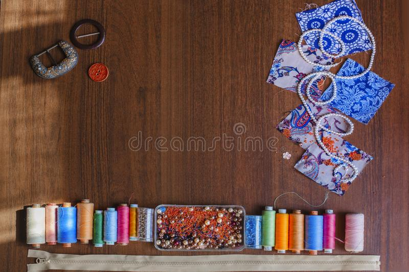 accessories for sewing stock images