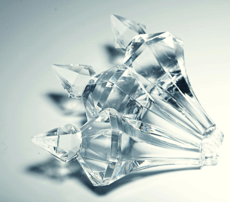 Accessories, small transparent crystals royalty free stock photo