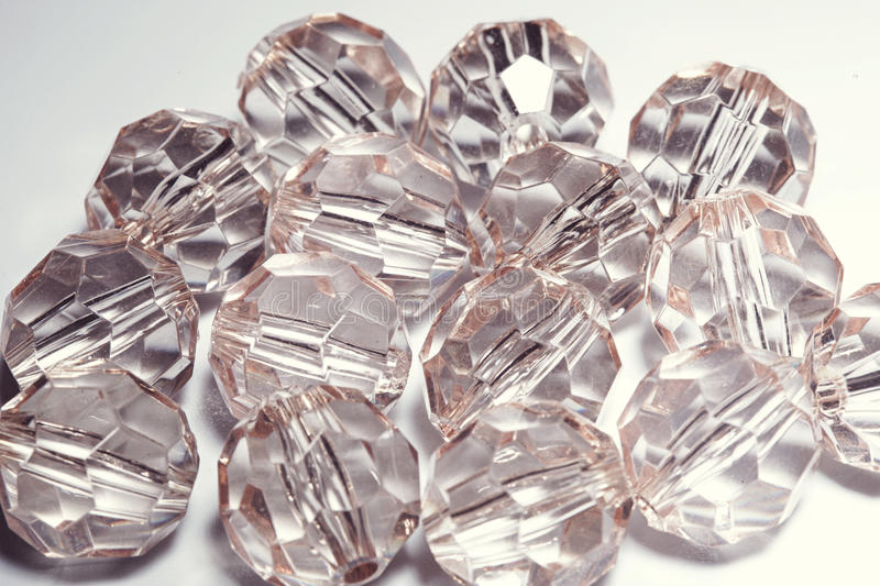 Accessories, small transparent crystals stock photography