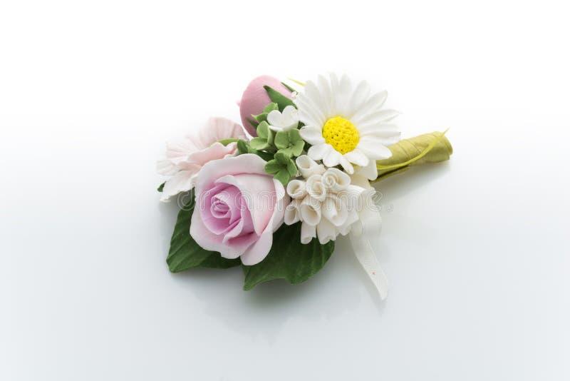 Accessorio del fiore di nozze fotografia stock