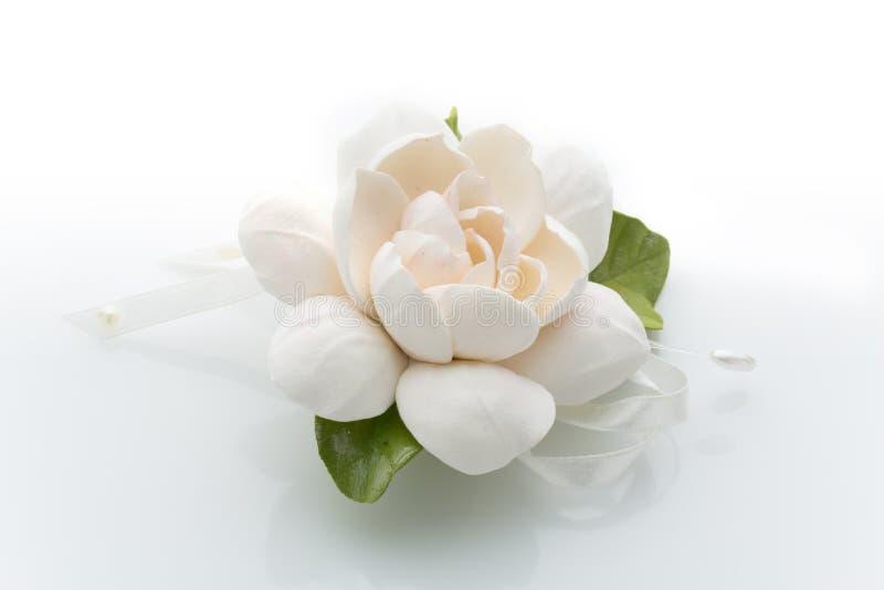 Accessorio del fiore di nozze fotografie stock