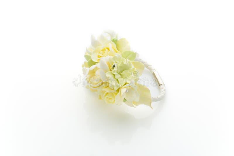 Accessorio del fiore di nozze immagine stock