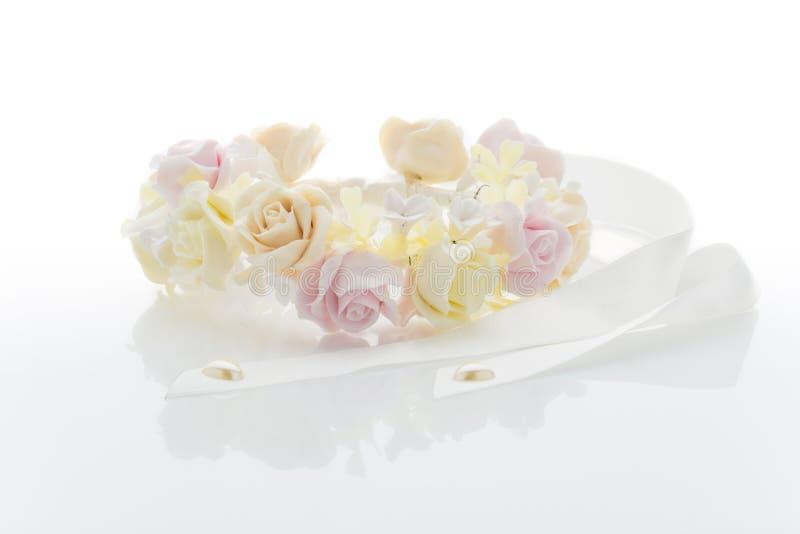 Accessorio del fiore di nozze fotografia stock libera da diritti