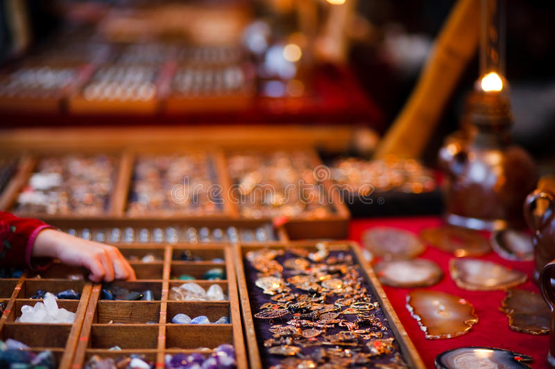 Accessory selling stock photo