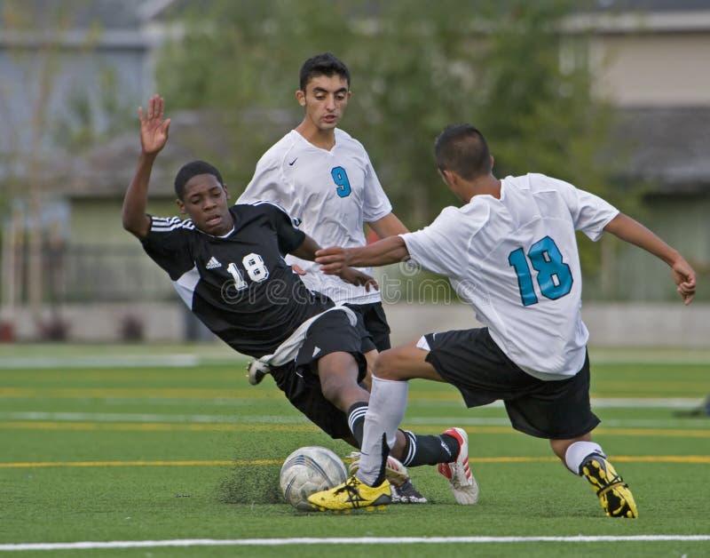Acción 1 del fútbol fotos de archivo