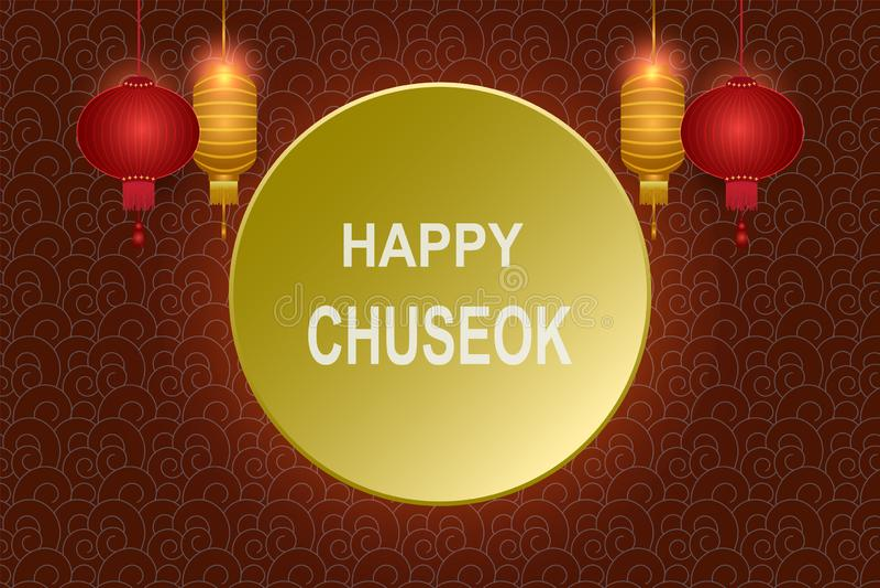 Acción de gracias coreana del festival feliz de Chuseok, mediados de fondo del otoño libre illustration