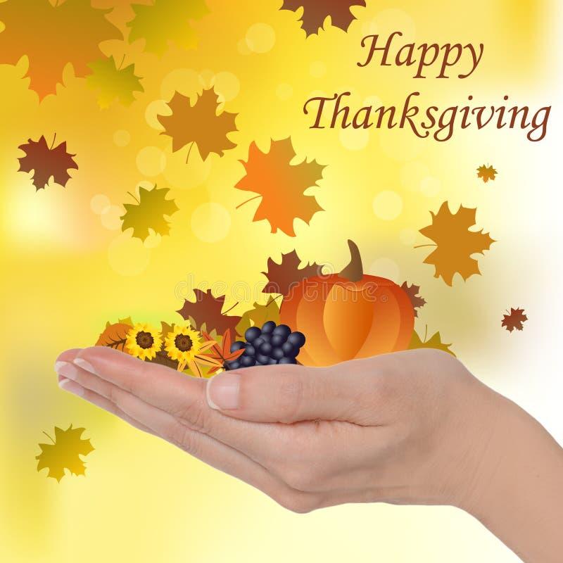 Acción de gracias feliz libre illustration