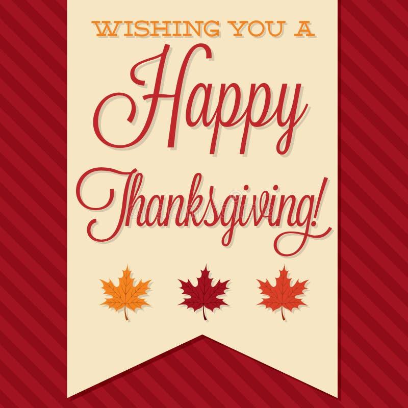 ¡Acción de gracias feliz! ilustración del vector