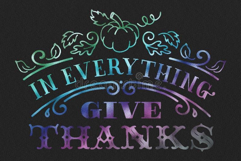 Acción de gracias feliz stock de ilustración