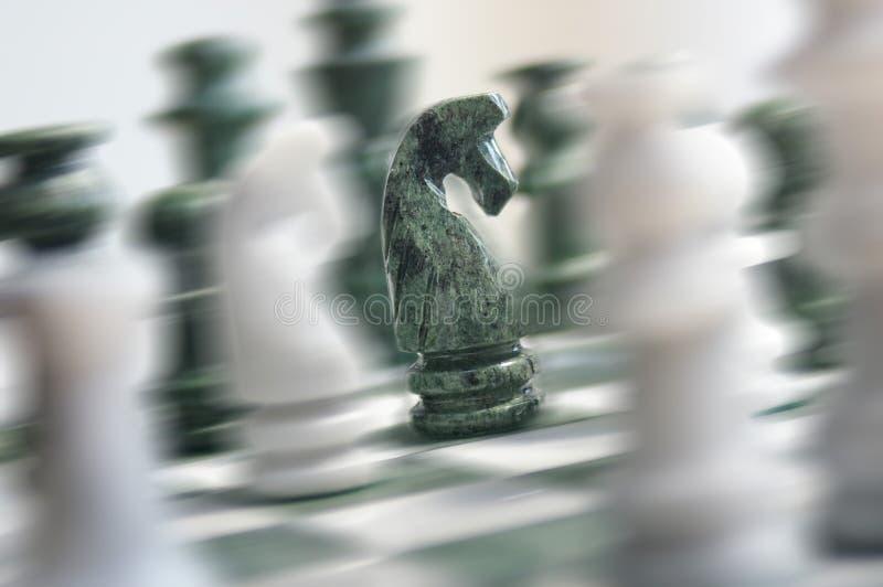 Acción del ajedrez fotografía de archivo libre de regalías