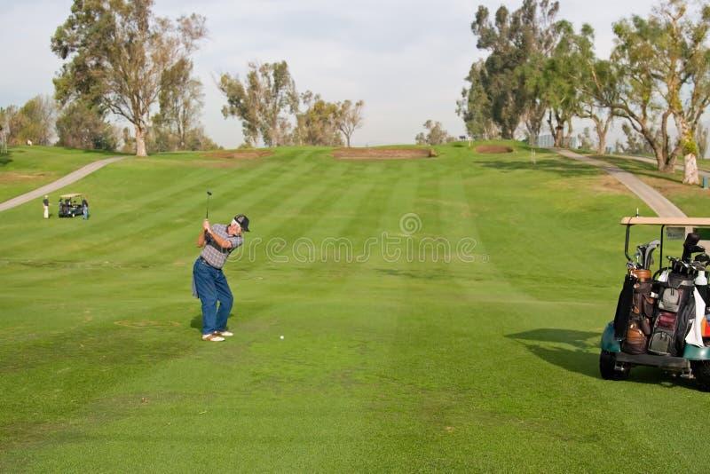 Acción del campo de golf imagenes de archivo