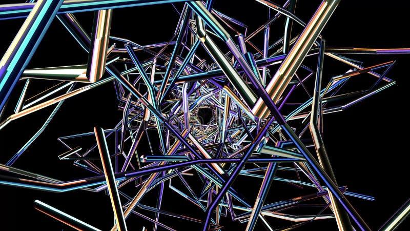 acción hermosa agradable fresca 4k de la interferencia 3d de la sinapsis del túnel del fondo del ejemplo de los nuevos gráficos p libre illustration