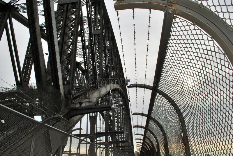 Acciaieria dettagliata del primo piano su Sydney Harbour Bridge immagini stock libere da diritti