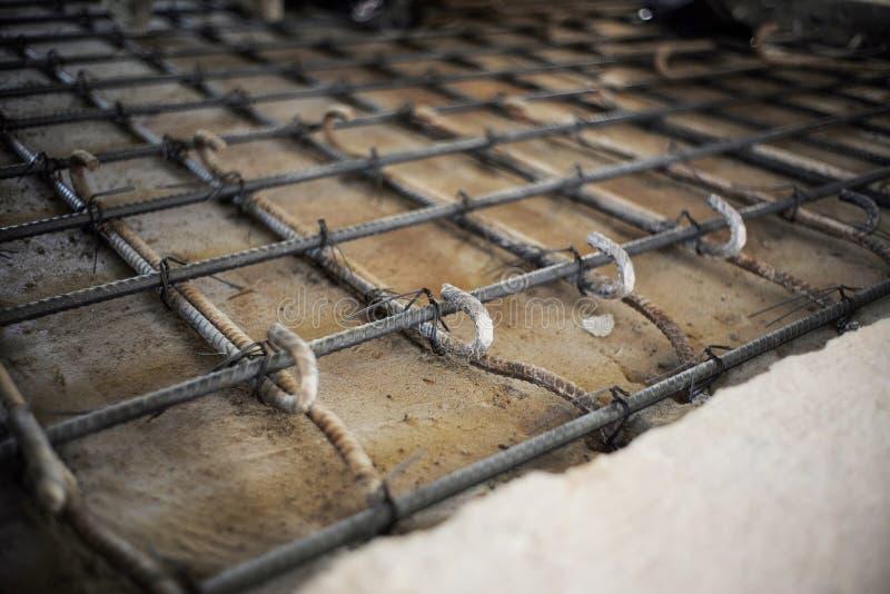 Acciaieria per il rinforzo del pavimento di calcestruzzo immagini stock libere da diritti