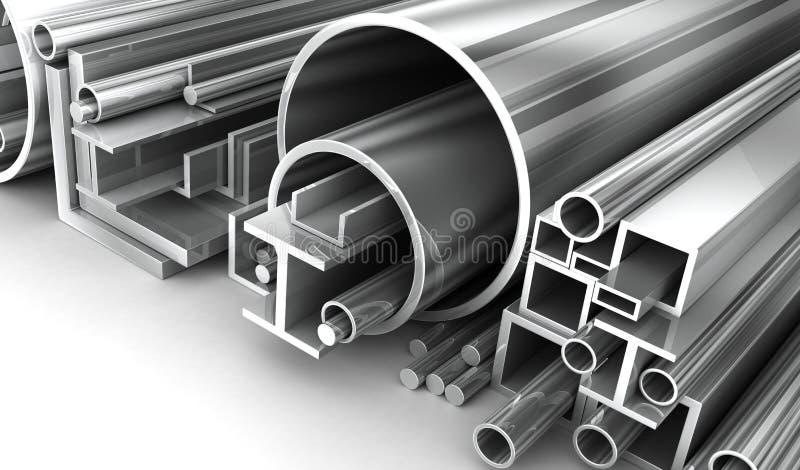 Acciaio, metallo-rotolo illustrazione di stock
