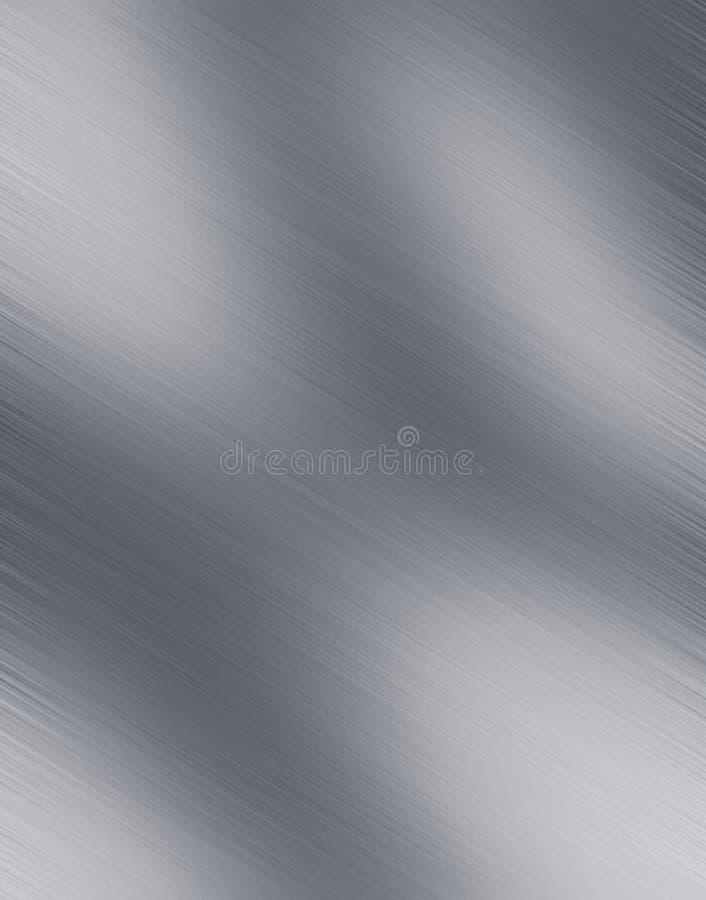 Acciaio spazzolato lucido illustrazione di stock