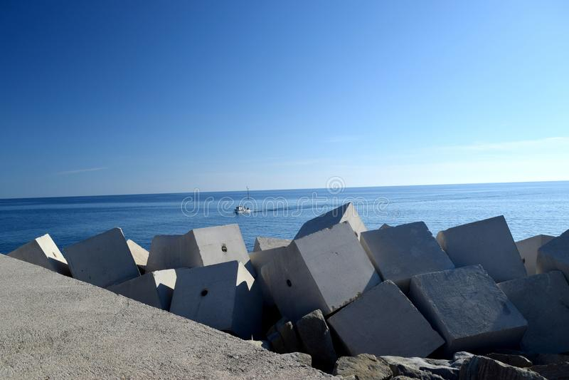 Acciaroli, Cilento, Ιταλία στοκ φωτογραφίες με δικαίωμα ελεύθερης χρήσης