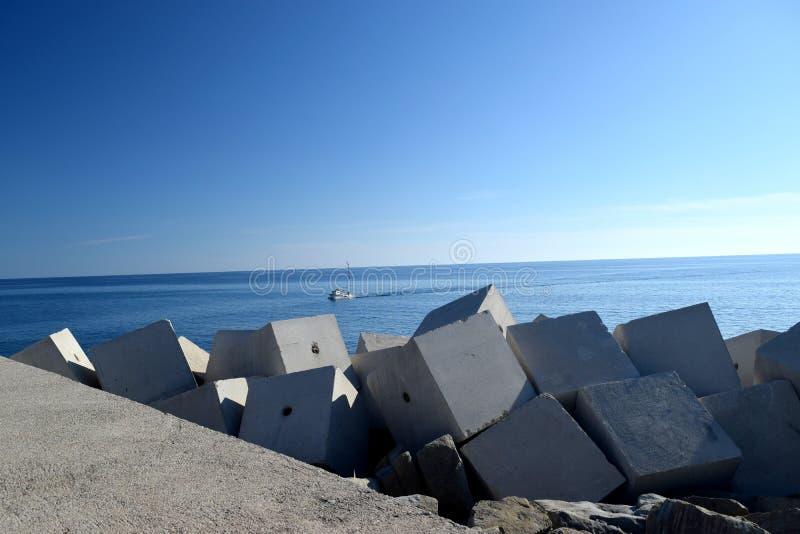 Acciaroli, Cilento, Italia fotografie stock libere da diritti