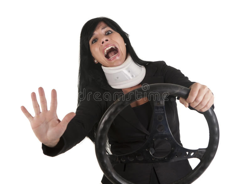 Accident collar royalty free stock images