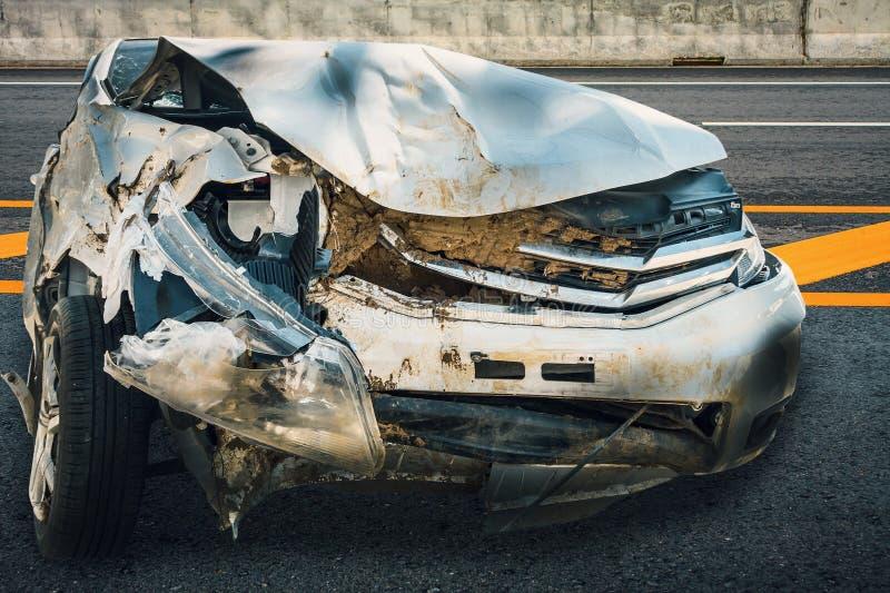 Accident d'accident de voiture image stock