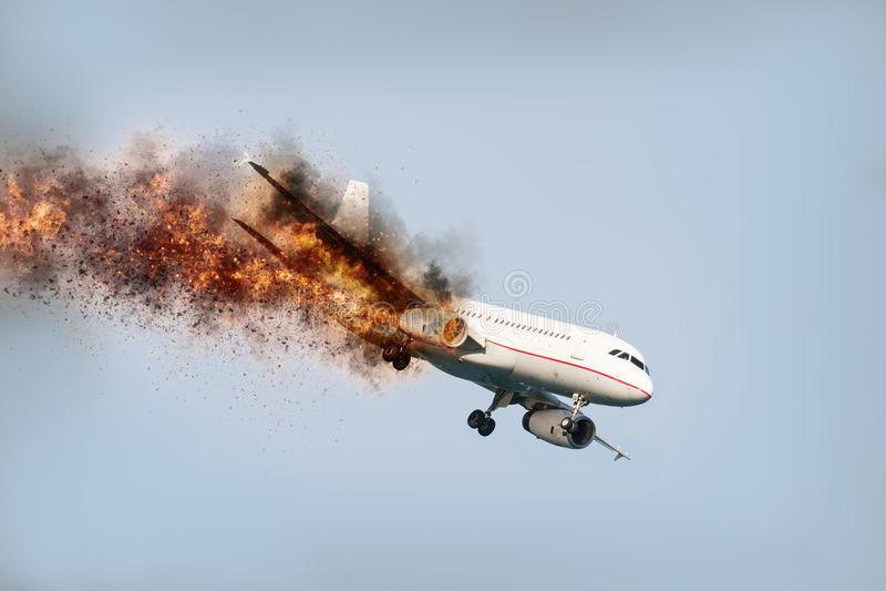 Accident d'air photos libres de droits