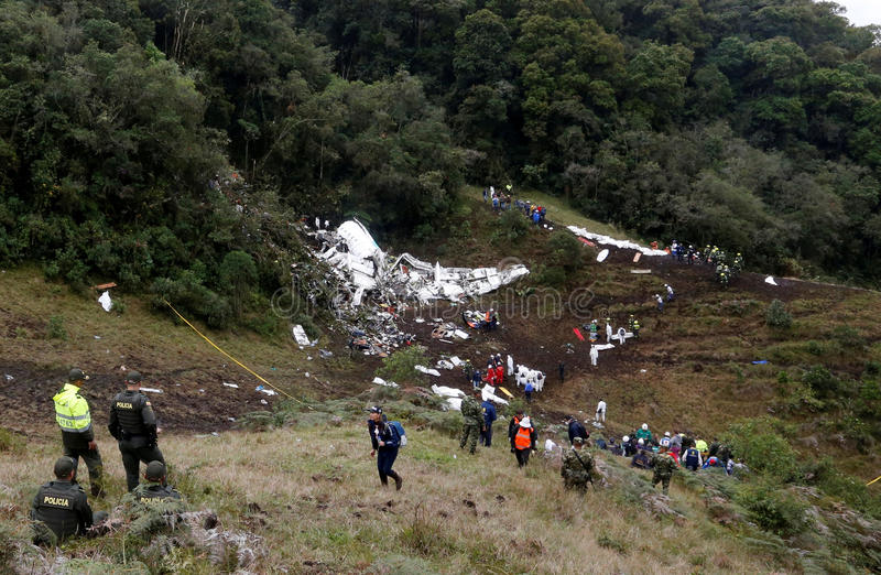 ACCIDENT D'AIR COLOMBIE image stock