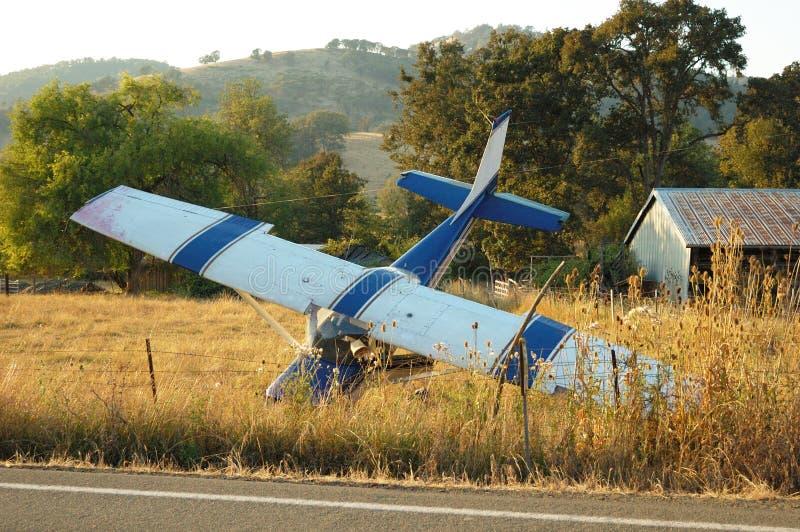Accident d'avion photographie stock libre de droits