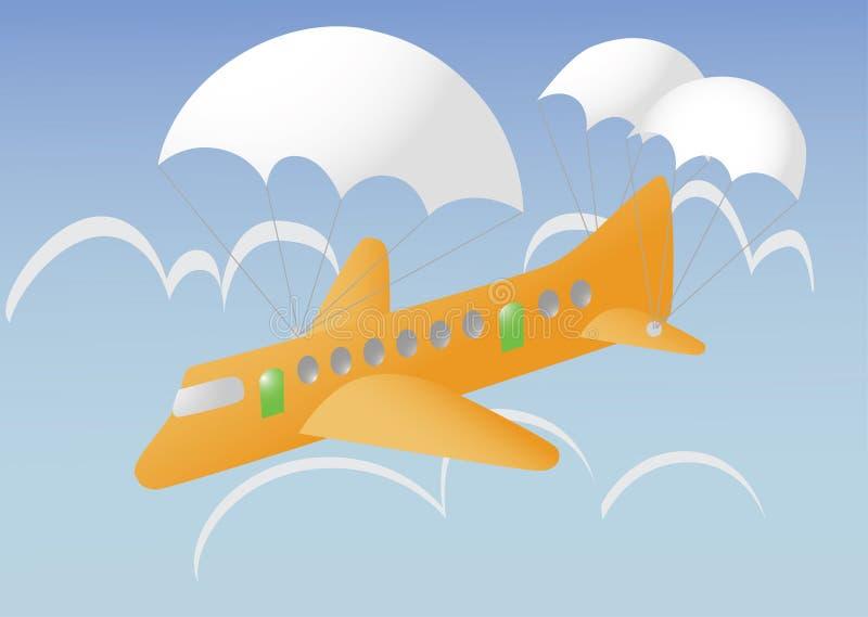 Accident d'avion image stock