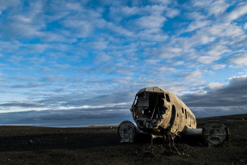 Accident d'avion de Solheimasandur photo libre de droits