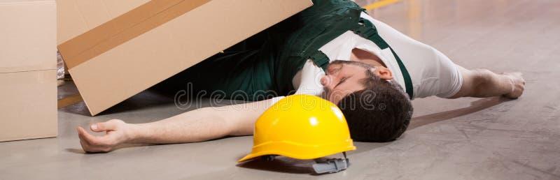 Accident dans l'entrepôt photos stock