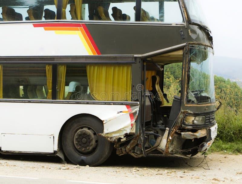 Accident de bus image stock