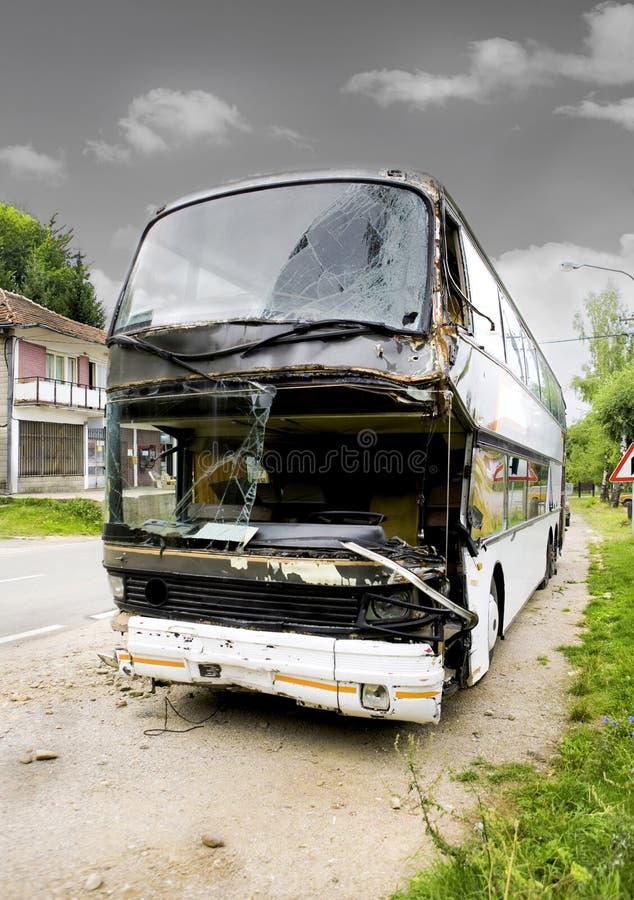 Accident de bus photo libre de droits